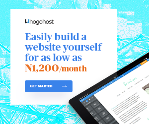 start your own website for as low as N1200 Naira per month