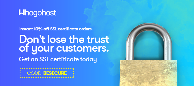 Get 10% off all SSL Certificates