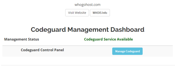 CodeGuard Management